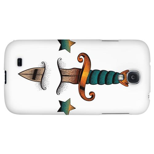 Dagger on White - Geeks Designer Line Tattoo Series Hard Back Case for Samsung Galaxy S4