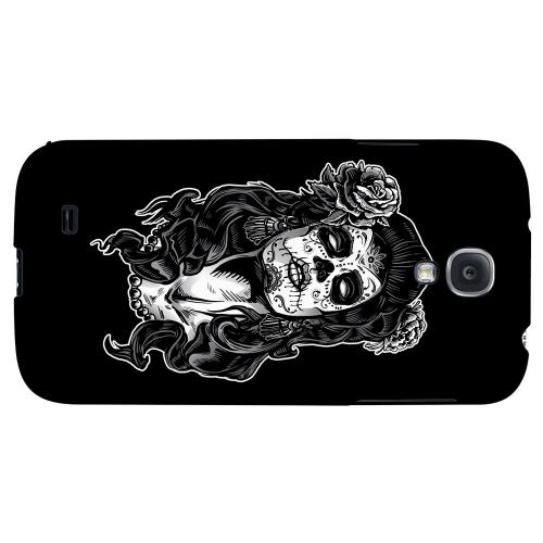 Day of the Dead Girl on Black - Geeks Designer Line Tattoo Series Hard Back Case for Samsung Galaxy S4