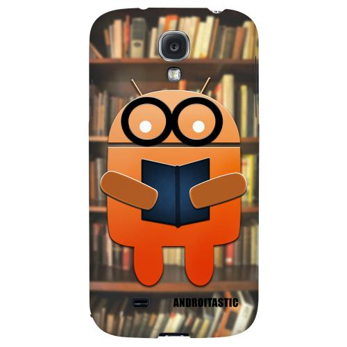 Studious Orange Robot - Geeks Designer Line Androitastic Series Hard Back Case for Samsung Galaxy S4