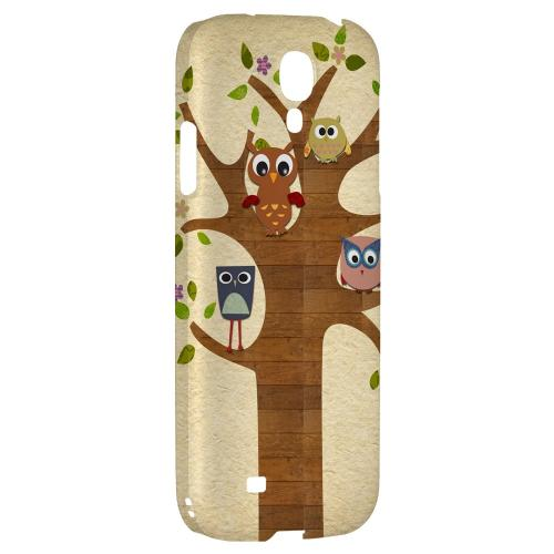 Owls on Brown Tree - Geeks Designer Line Owl Series Hard Back Case for Samsung Galaxy S4