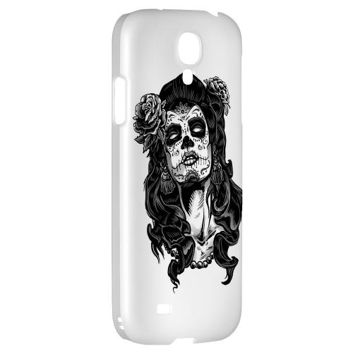 Day of the Dead Girl on White - Geeks Designer Line Tattoo Series Hard Back Case for Samsung Galaxy S4