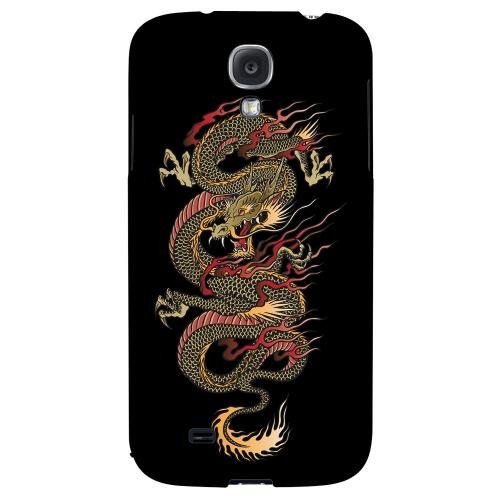 Dragon on Black - Geeks Designer Line Tattoo Series Hard Back Case for Samsung Galaxy S4