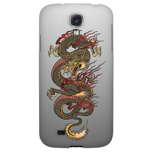 Dragon on Gray Gradient - Geeks Designer Line Tattoo Series Hard Back Case for Samsung Galaxy S4