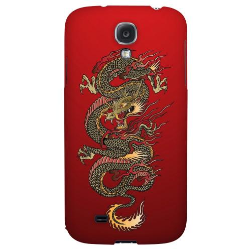 Dragon on Red Gradient - Geeks Designer Line Tattoo Series Hard Back Case for Samsung Galaxy S4