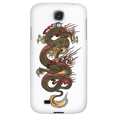 Dragon on White - Geeks Designer Line Tattoo Series Hard Back Case for Samsung Galaxy S4