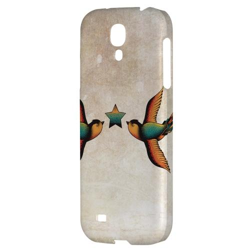 Dual Swallow Star - Geeks Designer Line Tattoo Series Hard Back Case for Samsung Galaxy S4