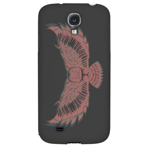 Flying Owl 3D-Esque - Geeks Designer Line Tattoo Series Hard Back Case for Samsung Galaxy S4