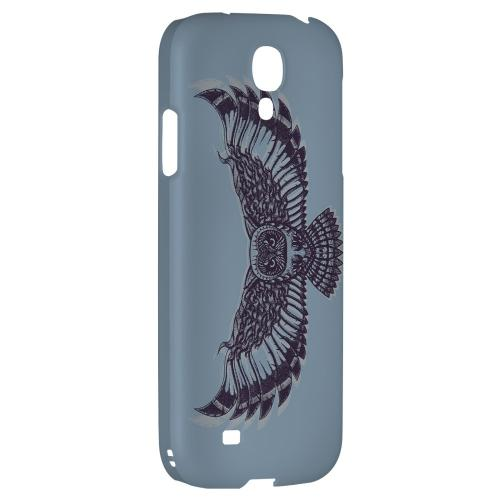 Flying Owl Blue/ Gray - Geeks Designer Line Tattoo Series Hard Back Case for Samsung Galaxy S4