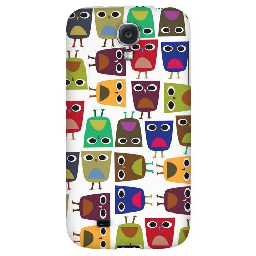 Quadrilateral Owl Configuration - Geeks Designer Line Owl Series Hard Back Case for Samsung Galaxy S4