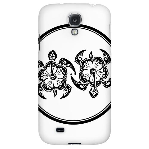 Island Turtle Duo - Geeks Designer Line Tattoo Series Hard Back Case for Samsung Galaxy S4