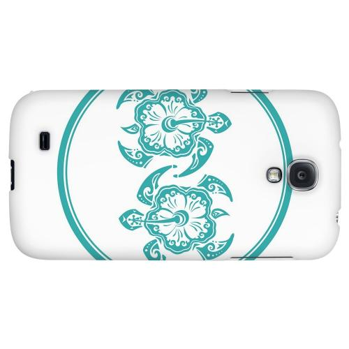 Aqua Island Turtle Duo - Geeks Designer Line Tattoo Series Hard Back Case for Samsung Galaxy S4