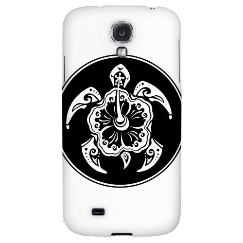 Island Turtle Solo - Geeks Designer Line Tattoo Series Hard Back Case for Samsung Galaxy S4