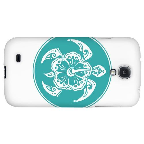 Aqua Island Turtle Solo - Geeks Designer Line Tattoo Series Hard Back Case for Samsung Galaxy S4