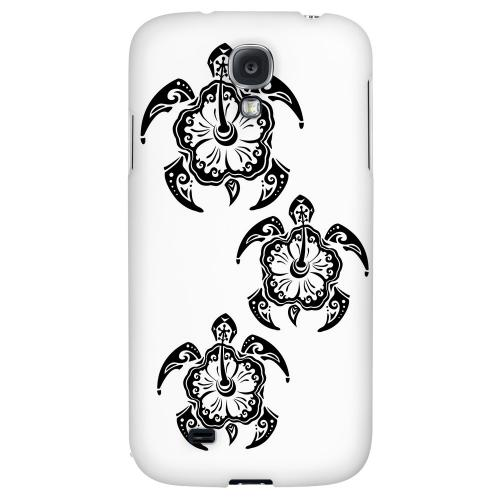 Island Turtle Trail - Geeks Designer Line Tattoo Series Hard Back Case for Samsung Galaxy S4