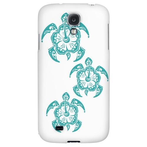 Aqua Island Turtle Trail - Geeks Designer Line Tattoo Series Hard Back Case for Samsung Galaxy S4