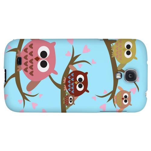 Round Owl Hangout - Geeks Designer Line Owl Series Hard Back Case for Samsung Galaxy S4
