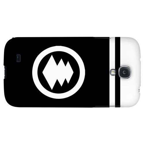White Hishi Kamon w/ Stripe - Geeks Designer Line Tattoo Series Hard Back Case for Samsung Galaxy S4