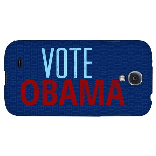 Red/Blue Obama - Geeks Designer Line Election 2012 Series Hard Back Case for Samsung Galaxy S4