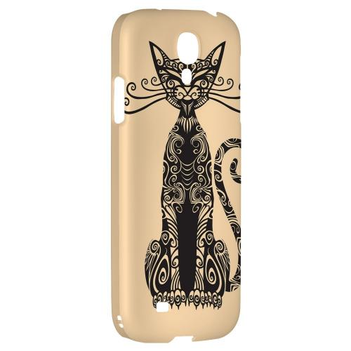 Kitty Nouveau on Peach - Geeks Designer Line Tattoo Series Hard Back Case for Samsung Galaxy S4