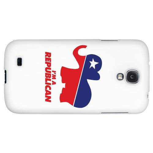 Red/Blue Republican Elephant - Geeks Designer Line Election 2012 Series Hard Back Case for Samsung Galaxy S4