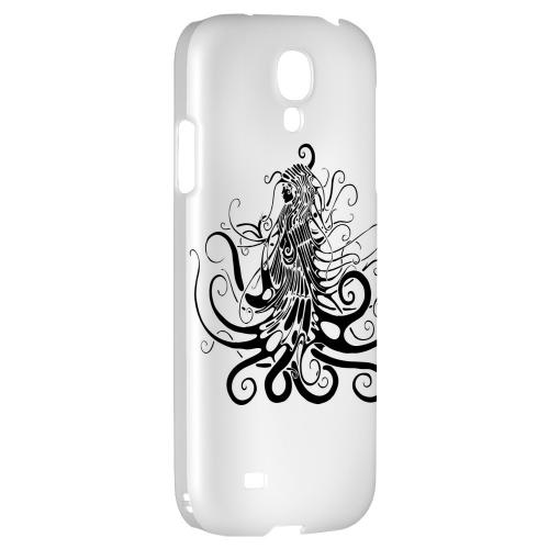 Black Medua on White - Geeks Designer Line Tattoo Series Hard Back Case for Samsung Galaxy S4