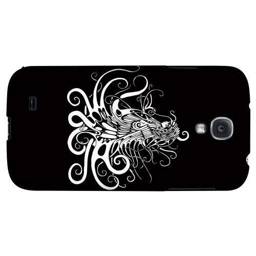 White Medusa on Black - Geeks Designer Line Tattoo Series Hard Back Case for Samsung Galaxy S4