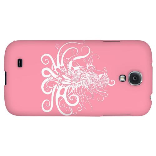 White Medusa on Pink - Geeks Designer Line Tattoo Series Hard Back Case for Samsung Galaxy S4