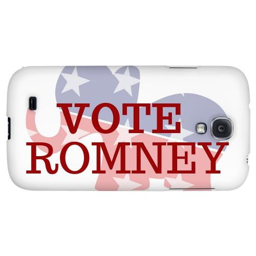 Red/White/Blue Romney - Geeks Designer Line Election 2012 Series Hard Back Case for Samsung Galaxy S4