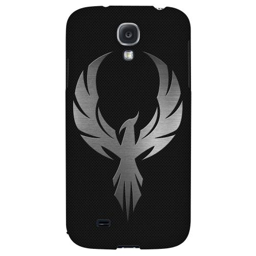 Phoenix Metal on Dark Gray Texture - Geeks Designer Line Tattoo Series Hard Back Case for Samsung Galaxy S4