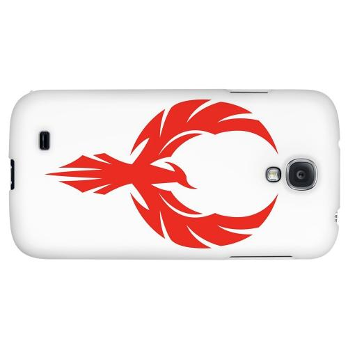 Phoenix Red on White - Geeks Designer Line Tattoo Series Hard Back Case for Samsung Galaxy S4