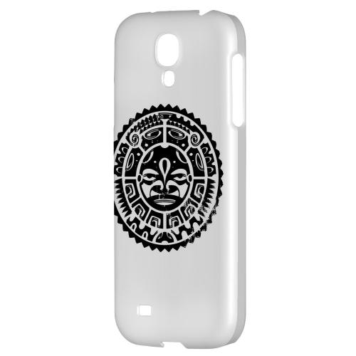 Polynesian Face - Geeks Designer Line Tattoo Series Hard Back Case for Samsung Galaxy S4