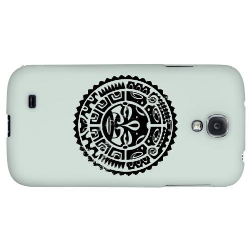Polynesian Face on Gray - Geeks Designer Line Tattoo Series Hard Back Case for Samsung Galaxy S4