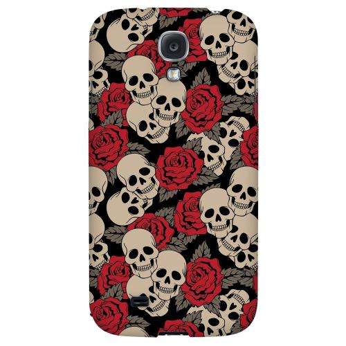 Rose Skulls - Geeks Designer Line Tattoo Series Hard Back Case for Samsung Galaxy S4