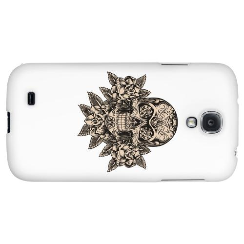 Skull Roses - Geeks Designer Line Tattoo Series Hard Back Case for Samsung Galaxy S4