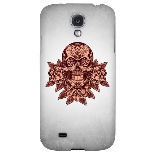 Skull Roses Red Grunge - Geeks Designer Line Tattoo Series Hard Back Case for Samsung Galaxy S4