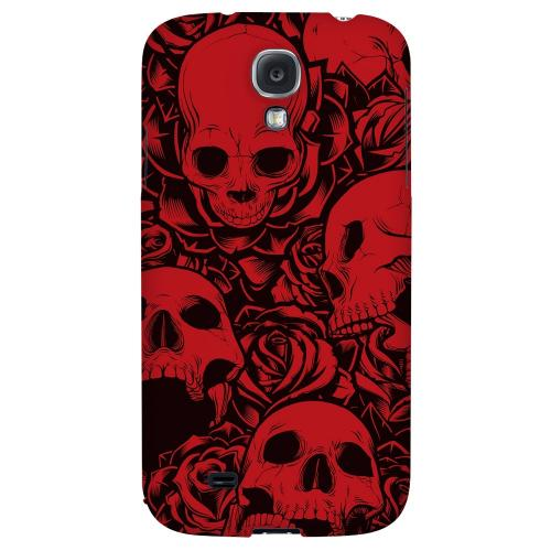 Skulls Rose Red/ Black - Geeks Designer Line Tattoo Series Hard Back Case for Samsung Galaxy S4
