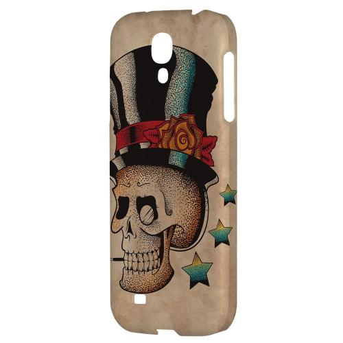 Smoking Skull - Geeks Designer Line Tattoo Series Hard Back Case for Samsung Galaxy S4