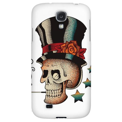 Smoking Skull on White - Geeks Designer Line Tattoo Series Hard Back Case for Samsung Galaxy S4
