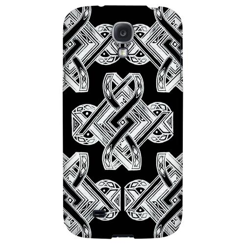 Tribal Art on Black - Geeks Designer Line Tattoo Series Hard Back Case for Samsung Galaxy S4