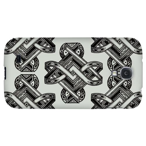 Tribal Art on Gray - Geeks Designer Line Tattoo Series Hard Back Case for Samsung Galaxy S4
