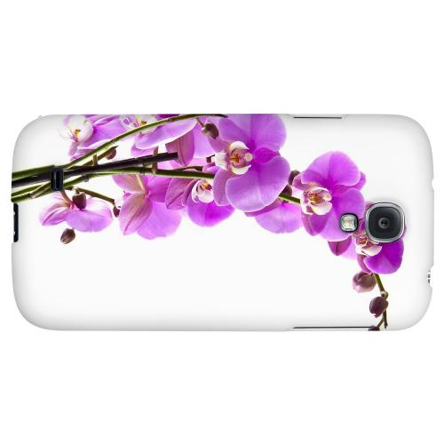 Violet Orchid Rising - Geeks Designer Line Floral Series Hard Back Case for Samsung Galaxy S4