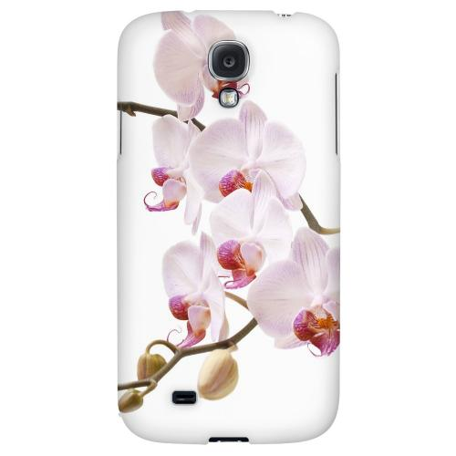 White Pink Orchid - Geeks Designer Line Floral Series Hard Back Case for Samsung Galaxy S4