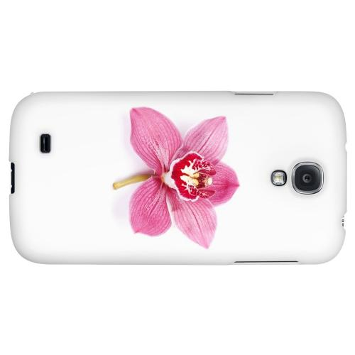 Single Pink Orchid Flower - Geeks Designer Line Floral Series Hard Back Case for Samsung Galaxy S4