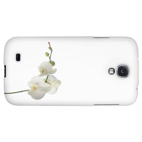 Simple White Orchid - Geeks Designer Line Floral Series Hard Back Case for Samsung Galaxy S4