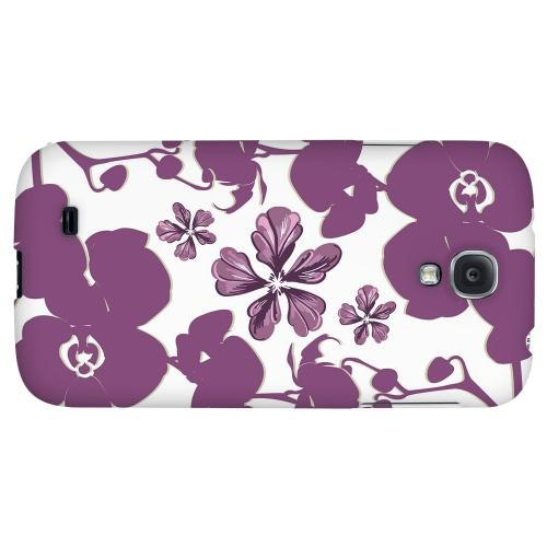 Purple Orchids - Geeks Designer Line Floral Series Hard Back Case for Samsung Galaxy S4