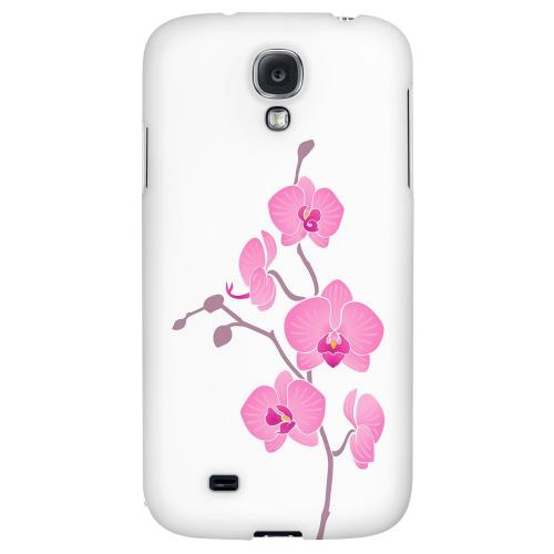 Pink Minimal Orchid Art - Geeks Designer Line Floral Series Hard Back Case for Samsung Galaxy S4