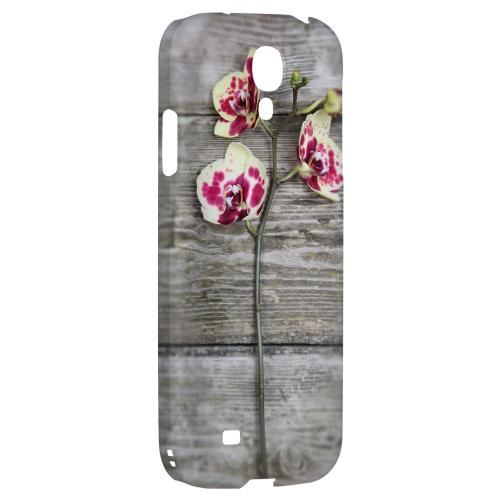 Orchid on Wood - Geeks Designer Line Floral Series Hard Back Case for Samsung Galaxy S4
