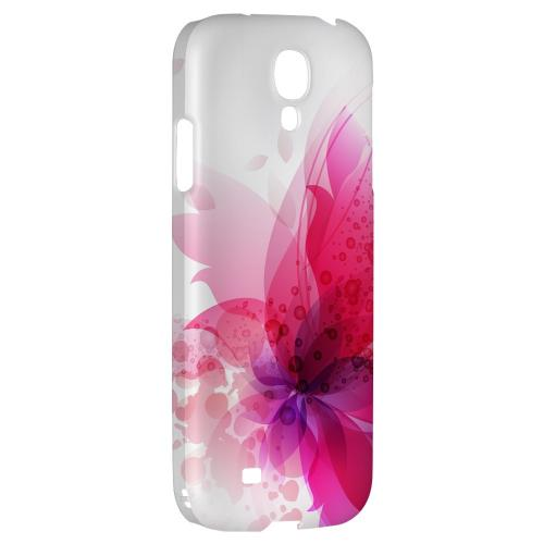 Hot Pink Orchid Swoosh Fade - Geeks Designer Line Floral Series Hard Back Case for Samsung Galaxy S4