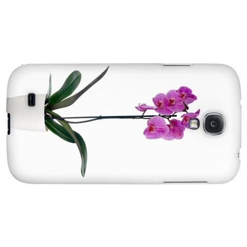 Hot Pink Orchid Plant - Geeks Designer Line Floral Series Hard Back Case for Samsung Galaxy S4
