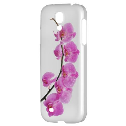 Hot Pink Orchid Curved Branch - Geeks Designer Line Floral Series Hard Back Case for Samsung Galaxy S4